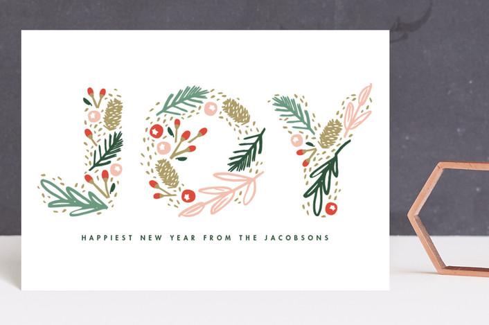 """Woodland Joy"" - Holiday Postcards in Spruce by Kristie Kern."