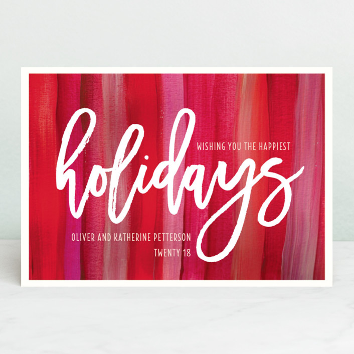 """Artistically Festive"" - Holiday Postcards in Ruby by Kaydi Bishop."