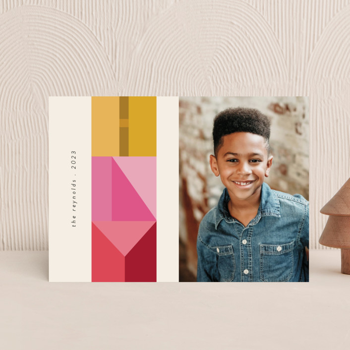"""""""Mod Letters"""" - Holiday Postcards in Citrus by Morgan Kendall."""