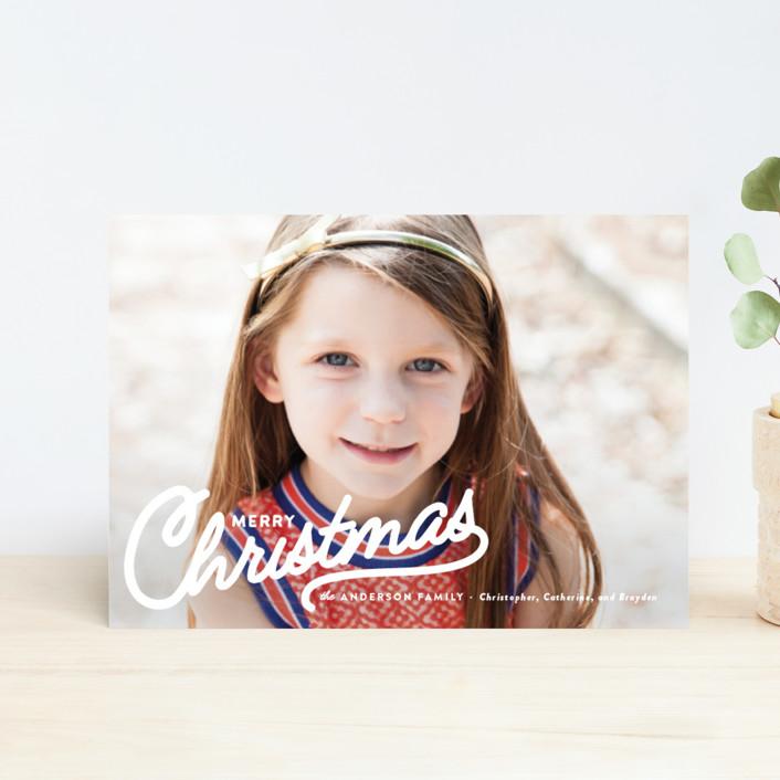 """Vintage Christmas Script"" - Vintage Holiday Postcards in Snow by Melissa Egan of Pistols."