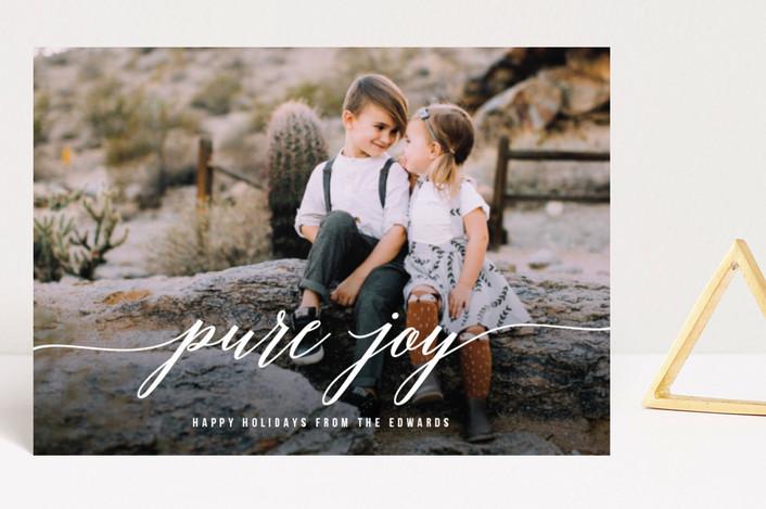 """Purely Joyful"" - Holiday Postcards in Snow by Simona Cavallaro."