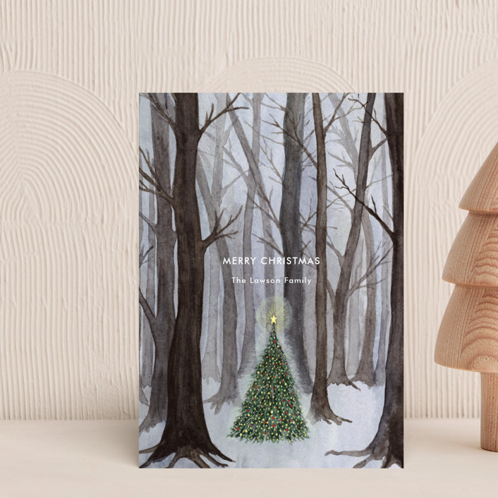 """Silent Night Woods"" - Holiday Postcards in Ice by Karina Racz."