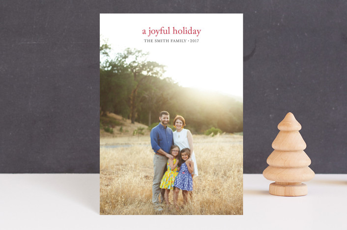 """""""a joyful new year"""" - Holiday Postcards in domino by Loren Willis."""