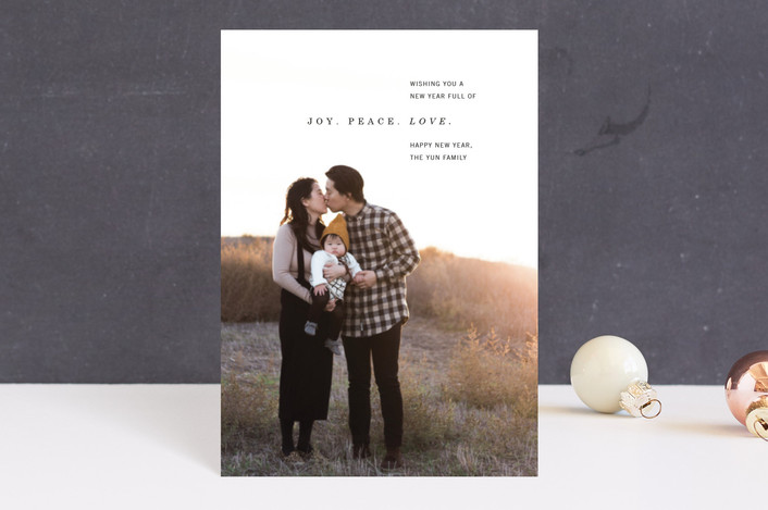 """""""New Year Wishes"""" - Holiday Postcards in Ebony by Lindsay Stetson Thompson."""