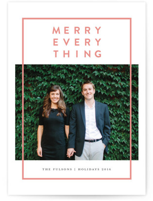 Modern Merry Holiday Postcards