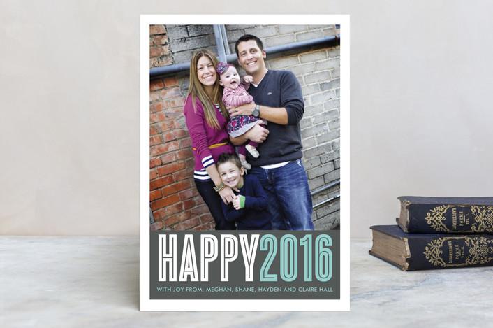 """Come Together"" - Holiday Postcards in Asphalt by Waui Design."