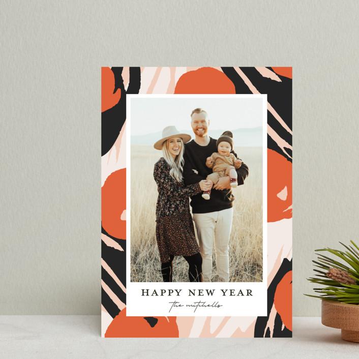 """Florella"" - Modern Holiday Postcards in Candied by Christie Garcia."