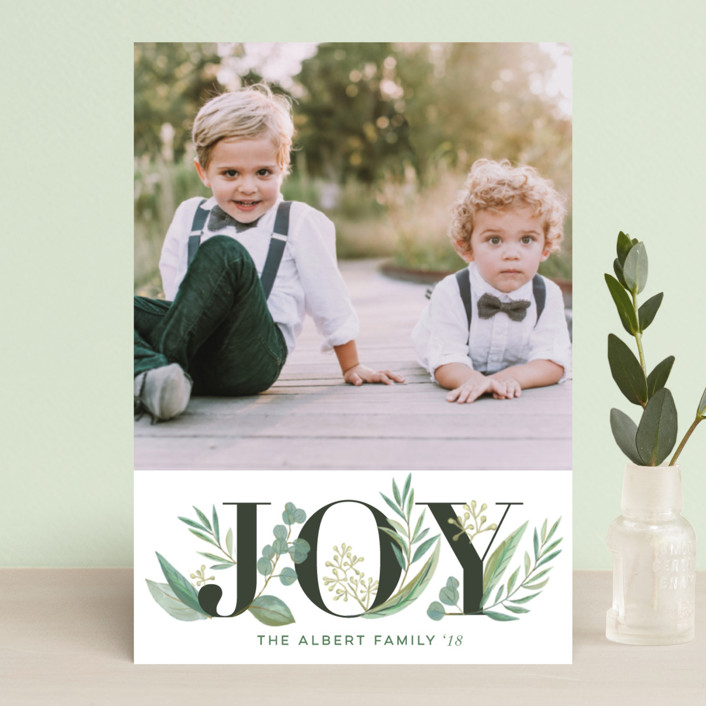 """""""Greenery"""" - Holiday Postcards in Wreath by Jessie Steury."""
