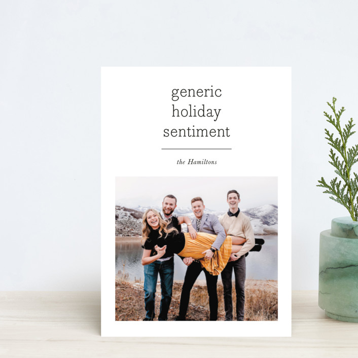 """""""Generic"""" - Holiday Postcards in Festive by Hudson Meet Rose."""