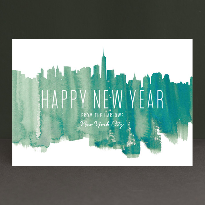 """Paint The Town"" - Holiday Postcards in Pale Pine by Kaydi Bishop."