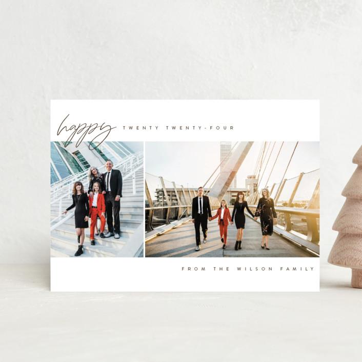 """happy year"" - Holiday Postcards in Snow by Kasia Labocki."