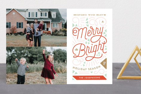 Merry Triangles Holiday Postcards