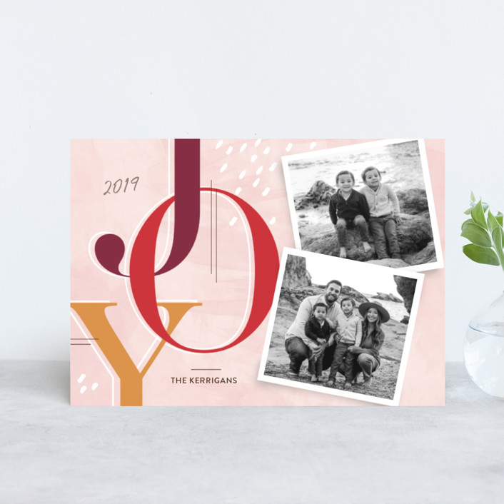 """""""Journaled"""" - Holiday Postcards in Burgundy by Paige Rothhaar."""