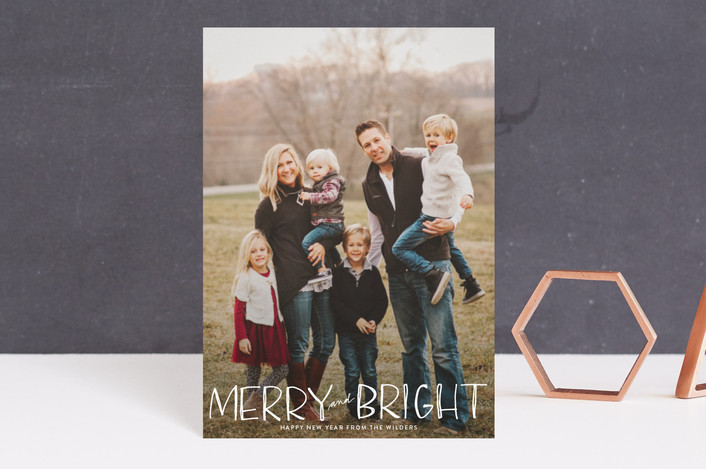 """Be Merry and Bright"" - Holiday Postcards in Snow by Annie Montgomery."