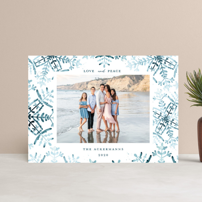 """""""Wintery Flurry"""" - Bohemian Holiday Postcards in Frosted by Angel Walker."""