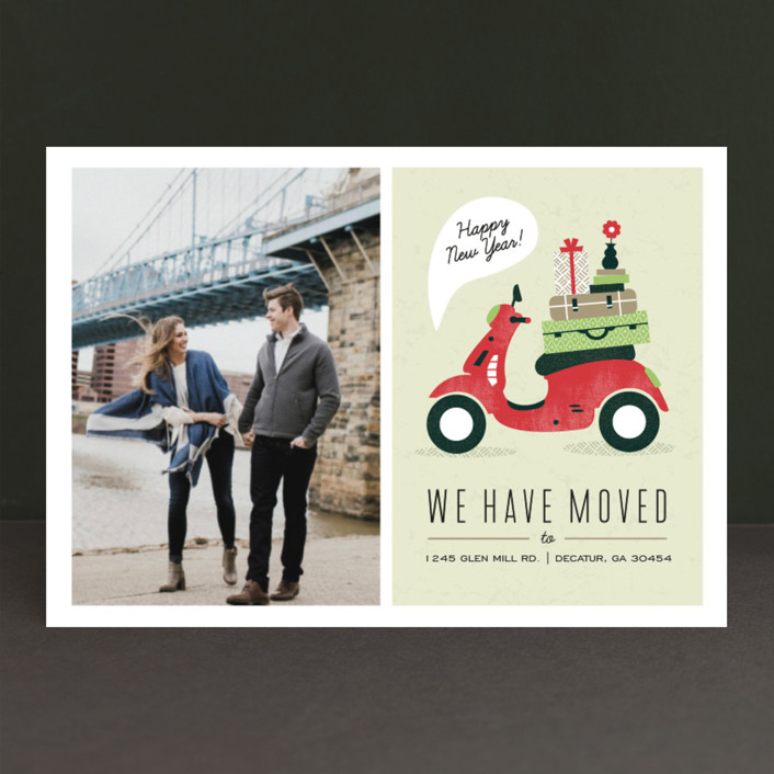 """Mod Move"" - Holiday Postcards in Evergreen by Kristen Smith."