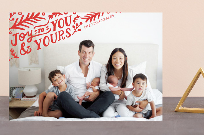 """""""To You and Yours"""" - Holiday Postcards in Crimson by Frooted Design."""