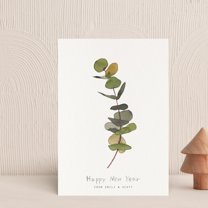"""""""eucalyptus"""" - Holiday Postcards in Chartreuse by jinseikou."""