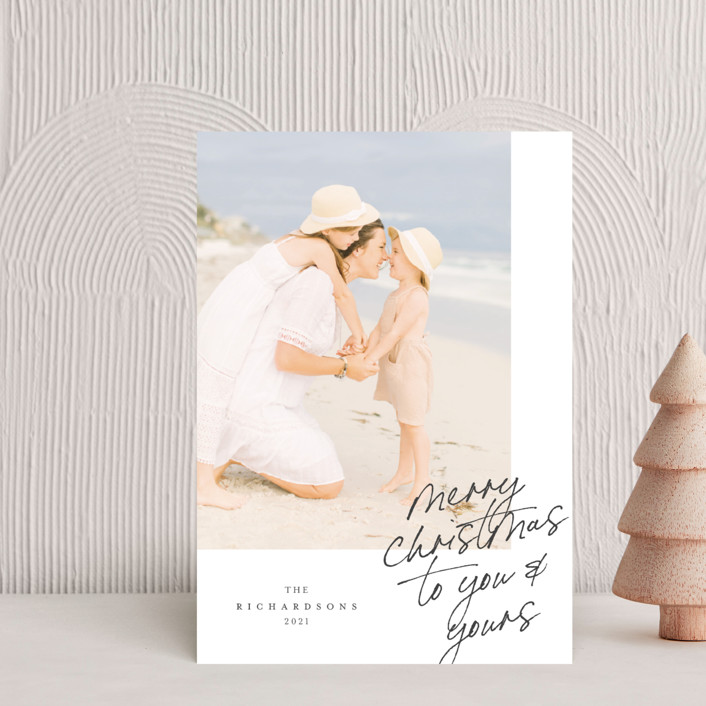 """""""Greeting Note"""" - Holiday Postcards in Cardinal by Grae."""