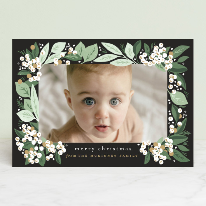"""""""Berry Bunches"""" - Holiday Postcards in Onyx by Alethea and Ruth."""