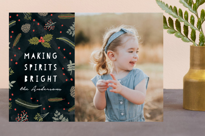 """""""Bright Spirit"""" - Holiday Postcards in Coal by iamtanya."""
