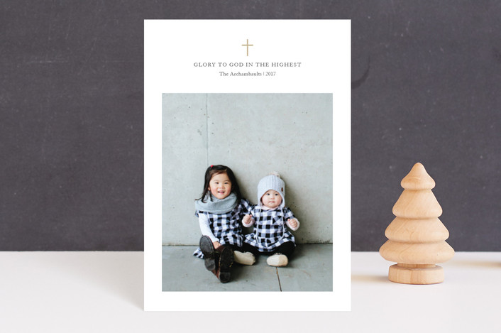 """Petite Cross"" - Holiday Postcards in Whiteout by Lorent and Leif."