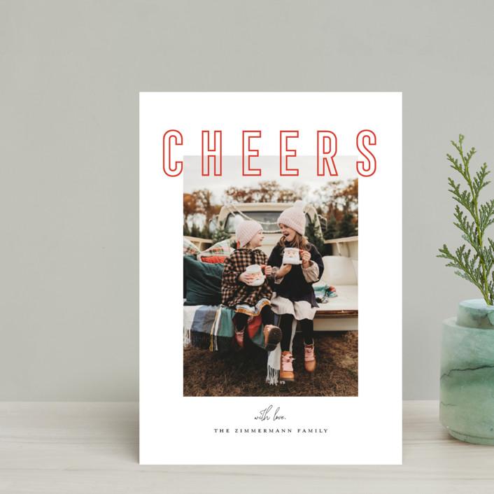 """Joyful & Peaceful"" - Holiday Postcards in Candy Cane by Juliana Zimmermann."
