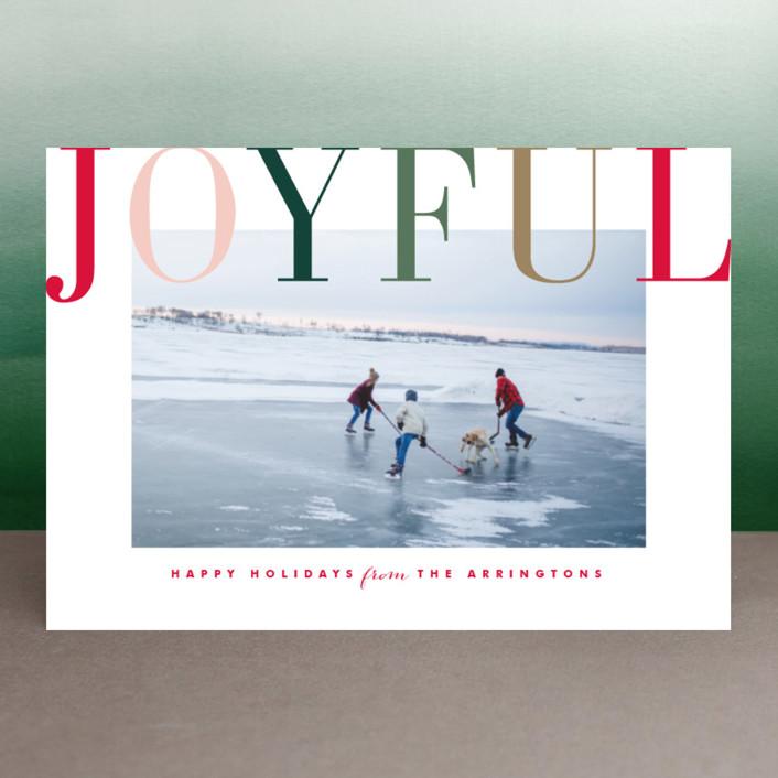 """""""Joyful Multi"""" - Holiday Postcards in Berry by Kristie Kern."""