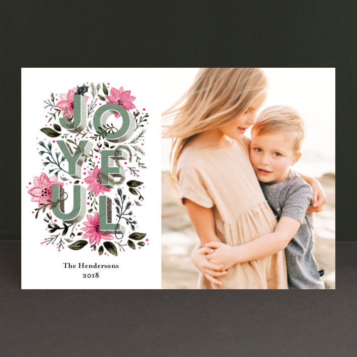 """joyful always"" - Holiday Postcards in Azalea by Aspacia Kusulas."