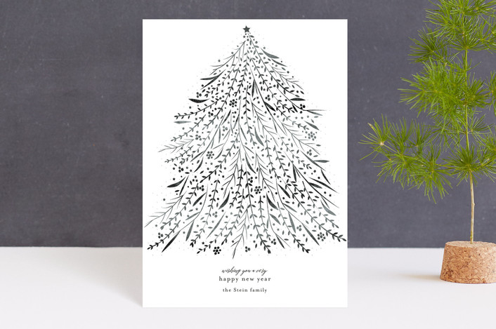 """Sparkle"" - Holiday Postcards in Silver Bells by Jennifer Lew."