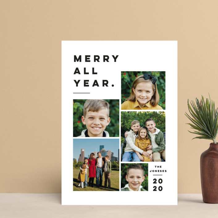 """""""Merry All Year."""" - Holiday Postcards in Penguin by Pink House Press."""