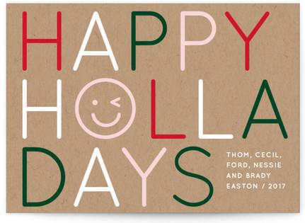 Emoji Shine Holiday Postcards