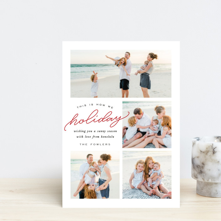 """How We Holiday"" - Holiday Postcards in Holly by Leah Bisch."