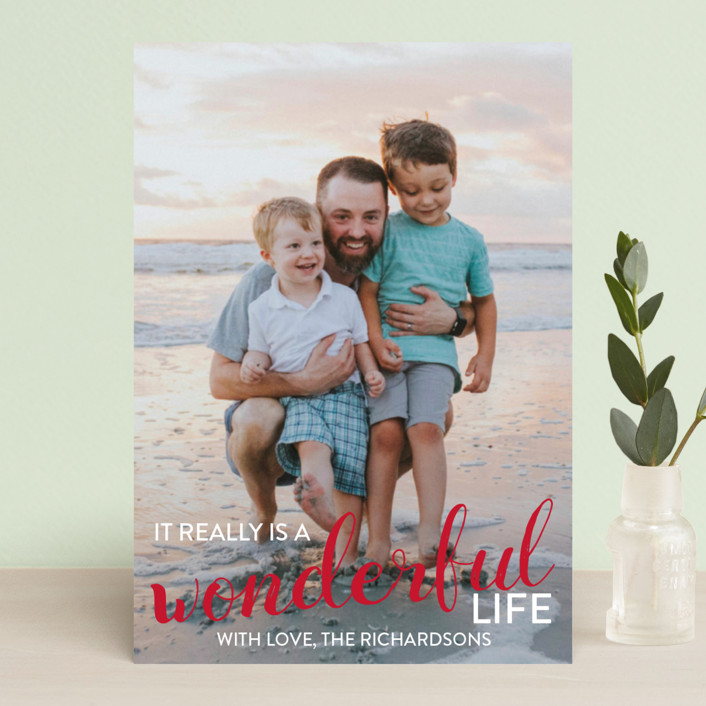 """It really is a wonderful life"" - Holiday Postcards in Cardinal by Leah Ragain."
