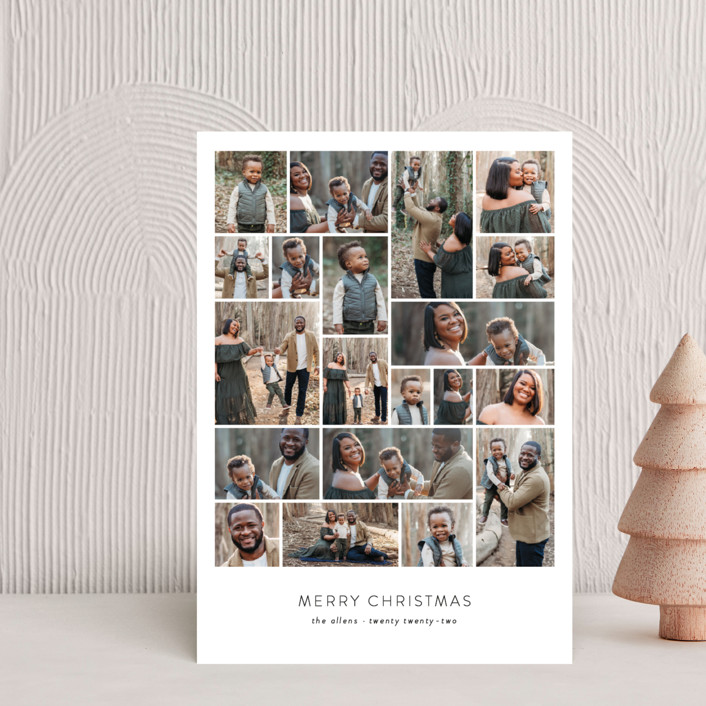 """""""Family Collage"""" - Holiday Postcards in Winter by Roxy Cervantes."""