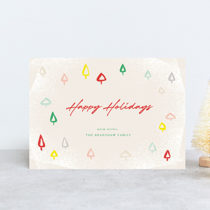 """""""Colorful Mini Trees"""" - Holiday Postcards in Festive by fatfatin."""