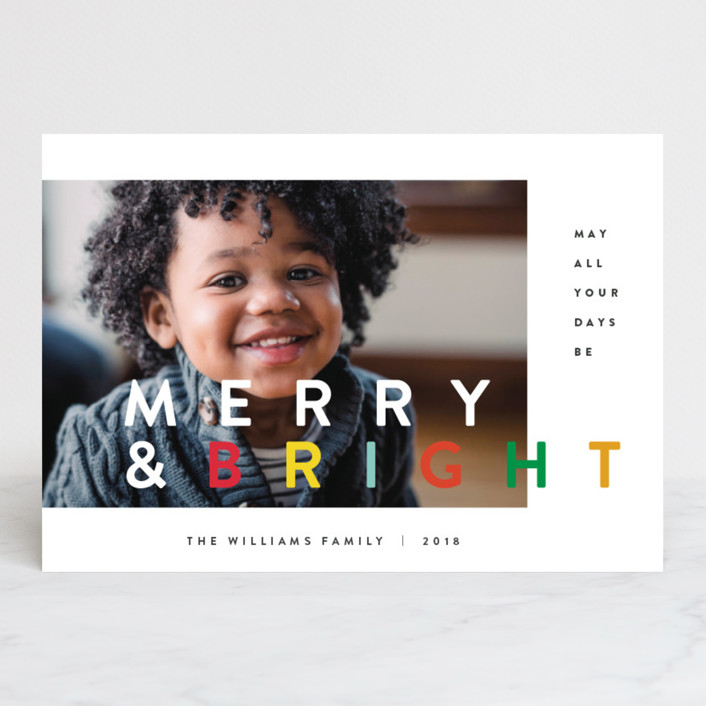 """the happy minimalist"" - Holiday Postcards in Rainbow by Design Lotus."