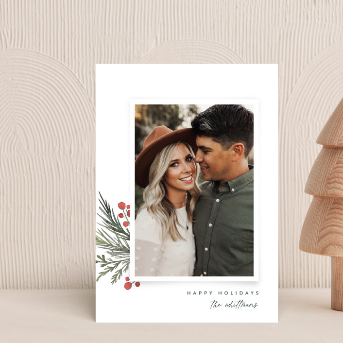 """""""Corner Trim"""" - Holiday Postcards in Snowfall by Jessica Williams."""