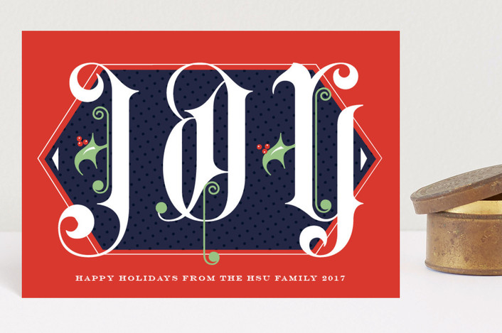 """""""Monumental Joy"""" - Vintage Holiday Postcards in Poinsettia by Keen Peachy."""