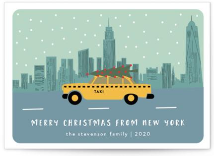 New York Christmas Holiday Postcards