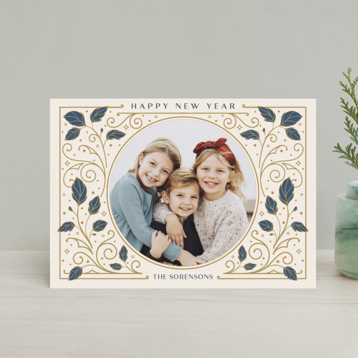 """Heirloom"" - Vintage Holiday Postcards in Antique by GeekInk Design."