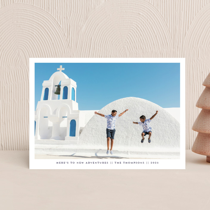 """New Adventures New Year"" - Holiday Postcards in Marina by Ashlee Townsend."