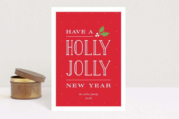 """Holly Jolly Christmas"" - Holiday Postcards in Holly by Michelle Poe."