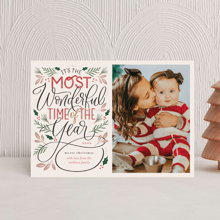 """""""The Most Wonderful"""" - Vintage Holiday Postcards in Cozy by Erin German."""