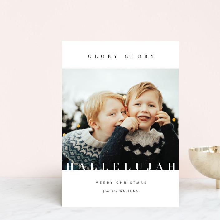 """Glory Glory"" - Holiday Postcards in Snowflake by Kasia Labocki."