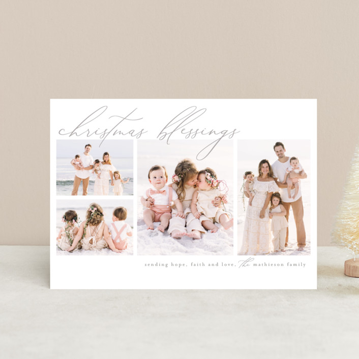 """""""Hope, love and faith"""" - Holiday Postcards in Snow by Chris Griffith."""