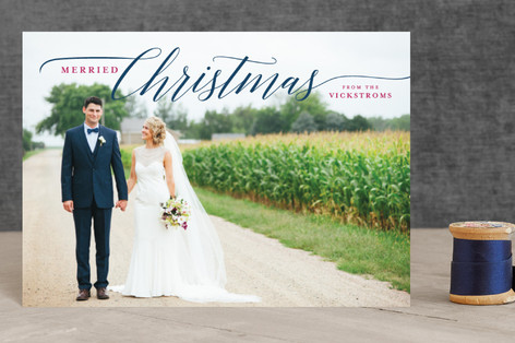 Married Christmas Couple Holiday Postcards