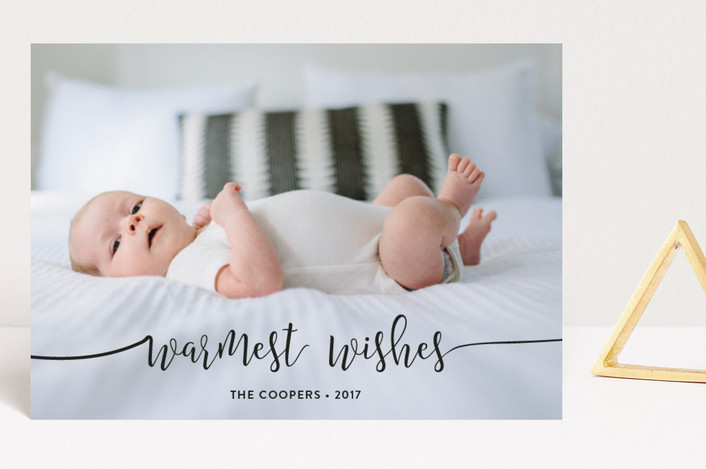 """""""Warmest Wishes This Holiday"""" - Holiday Postcards in Midnight by Christine Taylor."""