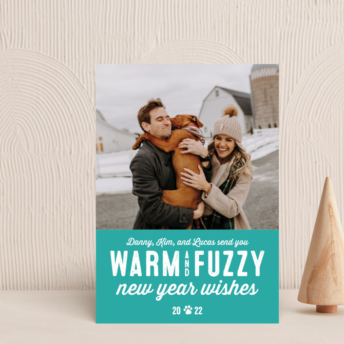 """""""Warm Fuzzies"""" - Holiday Postcards in Candy Cane by Lea Delaveris."""
