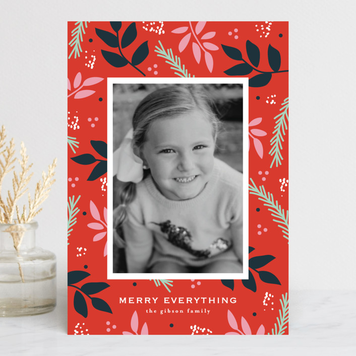 """""""notably merry"""" - Holiday Postcards in Cherry by lena barakat."""